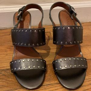 Coach Open Toed Block Heel Sandals